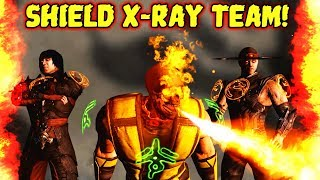 MKX Mobile. Best X-Ray Team with Shield. Destroying Diamond Teams!