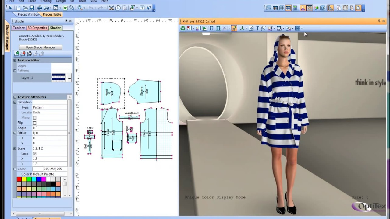 Clothes Design Software Pattern cutting software D