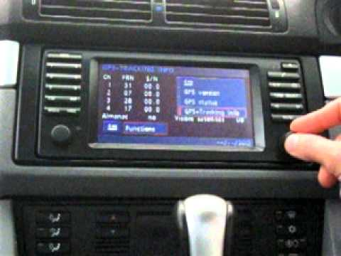 How To Access The Navigation Service Menu Of The Bmw E38