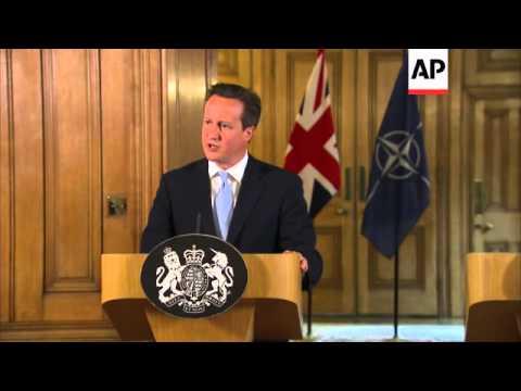 Cameron meets Fogh Rasmussen, comment on Iraq and Ukraine
