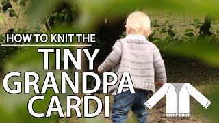 How to knit a V-neck Cardigan part 4 - the yoke