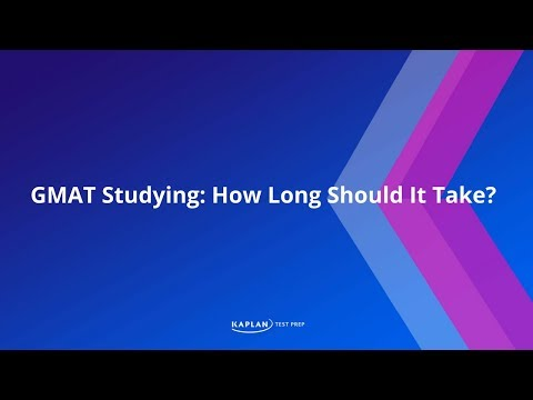 How long should I study for the GMAT?