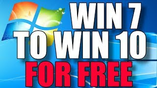 Upgrade Windows 7 To Windows 10 For FREE! I'll Show You How. No Boot Media Required!