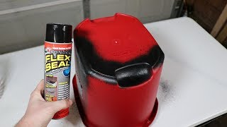 Can Flex Seal Really Fix A Broken Bucket???