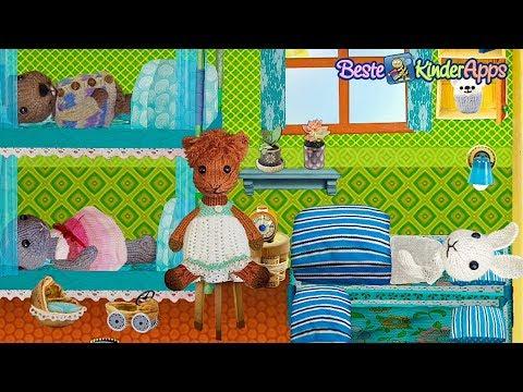 """Gehäkelte Tiere + Puppenhaus = Kinderspiel """"Fuzzy House"""" App"""