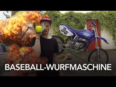 Baseball-Wurfmaschine Selber Bauen - Heimwerkerking Fynn Kliemann
