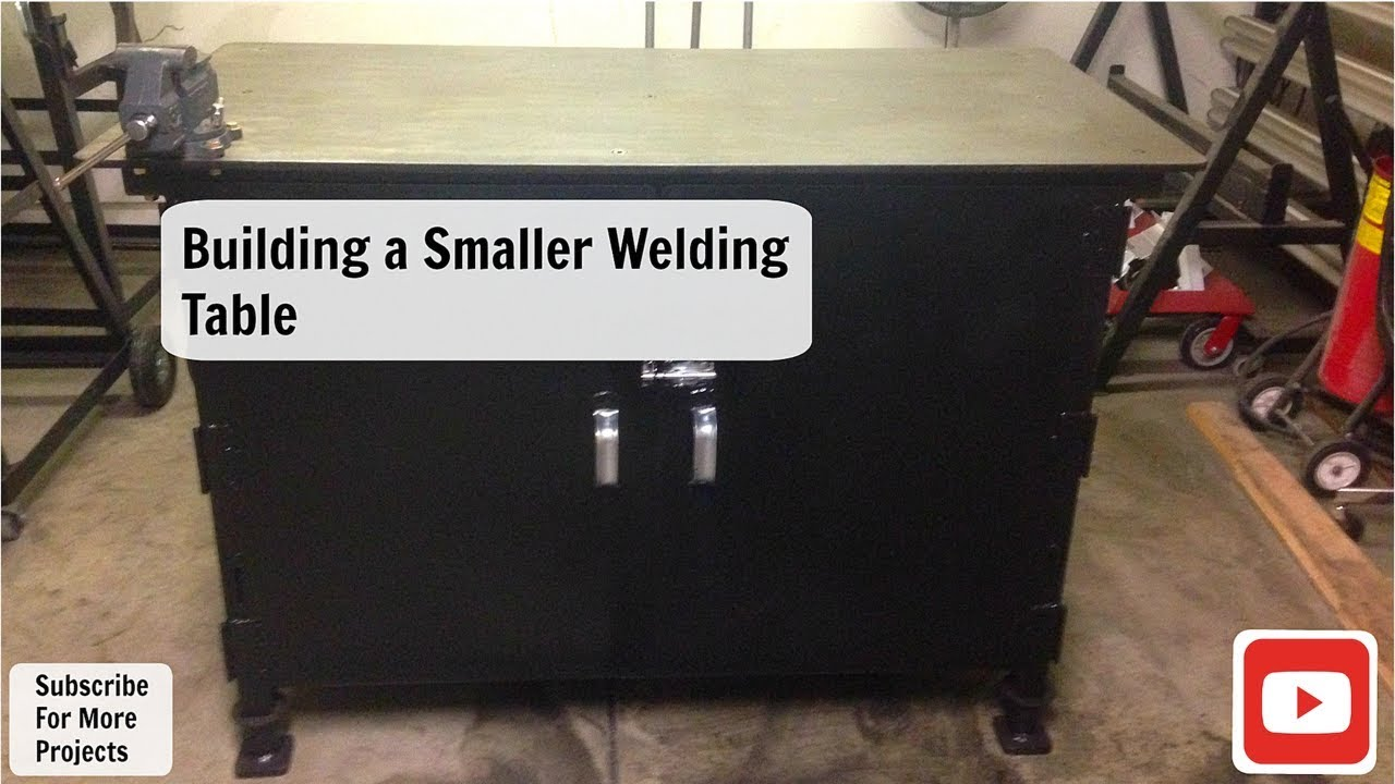 Building A Smaller Welding Table Work Bench Youtube