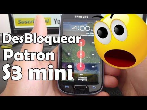 como desbloquear bloqueo por patron samsung galaxy s3 mini i8190 español Full HD