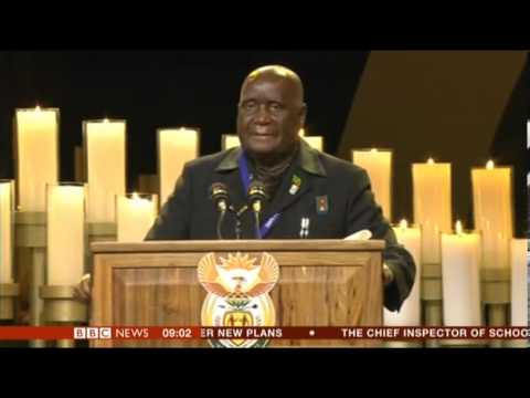 Nelson Mandela State Funeral Tribute by Kenneth David Kaunda 1st President of Zambia