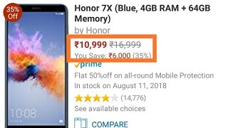 #Rs 6000 price drop on honor 7x!! #64 GB variant at just Rs.11000||