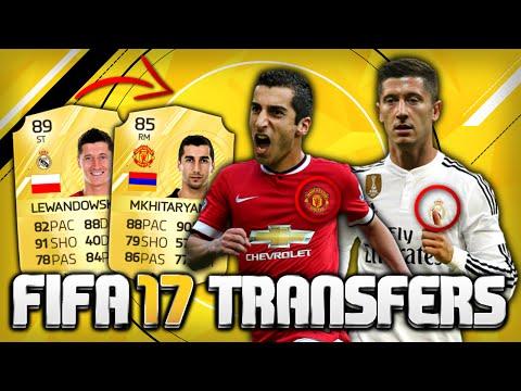 FIFA 17 TRANSFERS: LEWANDOWSKI zu REAL? MKHITARYAN zu MANCHESTER?