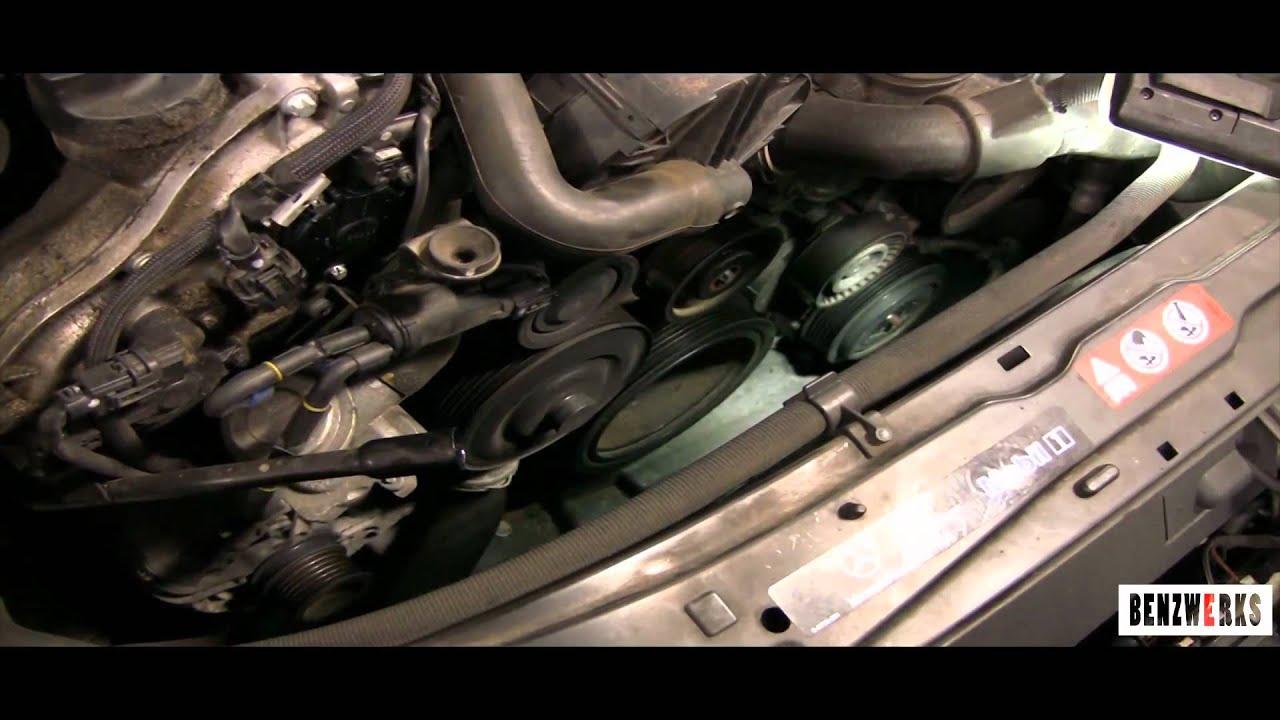 Benzwerks Drive Belt Replacement Serptine Belt Youtube