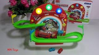 Mở hộp đồ chơi xe ô tô - Lắp ráp đường đua - Super Racing Car -  Lightning McQueen MN Toys