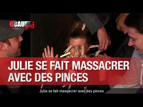 Julie se fait massacrer avec des pinces - C'Cauet sur NRJ