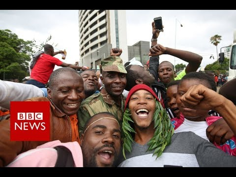 Zimbabwe crisis: 'People sense Robert Mugabe is gone' - BBC News