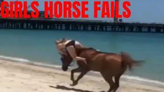 Girls Horse fails Funny Horses Epic Fail Compilation April 2019