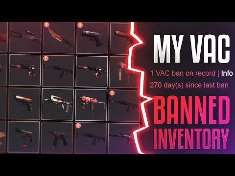 My Vac Banned Red Loadout! (CS:GO Banned Inventory)