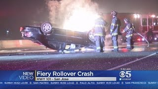GOOD SAMARITAN:  Good Samaritan rescues driver from fiery San Jose crash