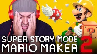 THIS IS GETTING HARD.... [SUPER MARIO MAKER 2] [STORY MODE] #02]