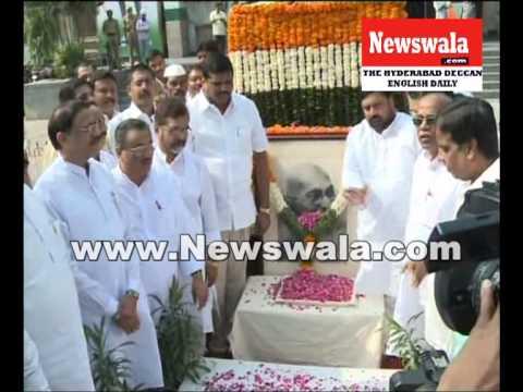 Mahatma Gandhi's death anniversary at Gandhi Bhavan Hyderabad