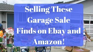 Selling These Garage Sale Items on Ebay and Amazon. Easy Money!