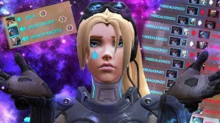 My teammates called me a Hacker/Cheater for Carrying as Widowmaker and Hanzo - Overwatch