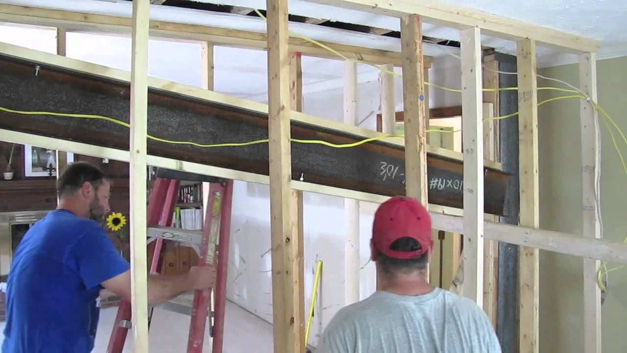 Installing Load Bearing Steel Beam Youtube
