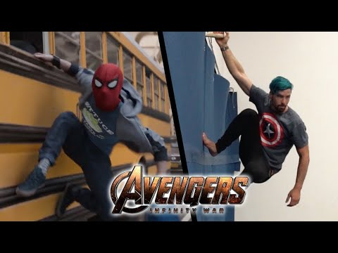 Stunts from Avengers Infinity War In Real Life (Marvel)