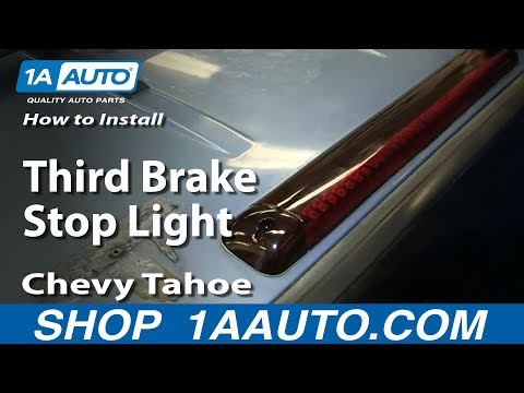 How To Install Replace Third Brake Stop Light 1995-99 Chevy Tahoe and 2000 Z71