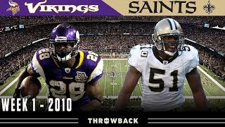 An Intense Rematch! (Vikings vs. Saints, 2010)