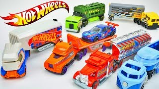 Hot Wheels Truck Race Haulers Track Stars Who Is the Fastest? Cars Toys
