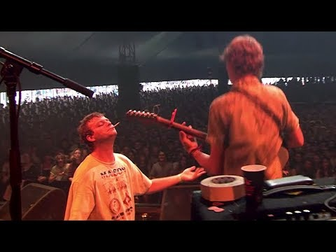 Audience member plays guitar with Mac DeMarco at Lowlands Festival 2017