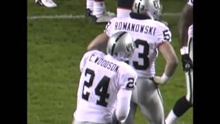 Raiders @ Broncos 2002 - Rod Woodson int. that turned the Raiders' season