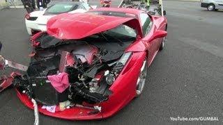 Crashed: 2x Ferrari 458 Italia + Ferrari 430 Scuderia - Circuit Spa Francorchamps