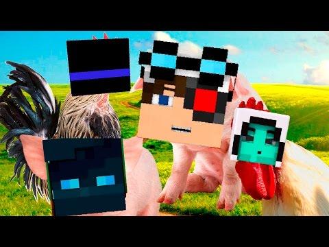 Мы превратились в животных! Свиньи против Петухов - FarmFrenzy