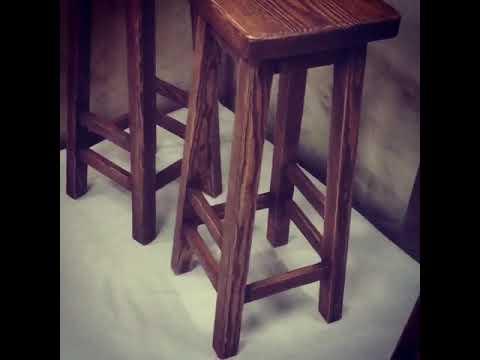 Барные стулья состаренные Браширование