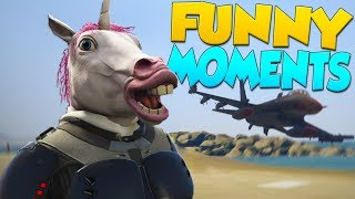 GTA 5 Funny Moments - Underwater Car, Jetpack, Anime Plane!