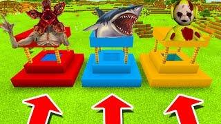 Minecraft PE : DO NOT CHOOSE THE WRONG WELL! (Demogorgon, Shark & Laa-Laa Slendytubbies)