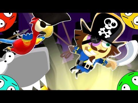 🐾 Приключение ПИРАТА Роджера и попугая! Путь на корабль! Мультик Игра. Мультфильм путешествие.