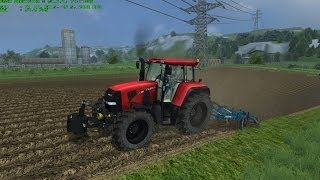Farming Simulator 2013 Ploughing with Case cvx 175 and Meyer Sauzahn 4000