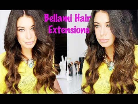 Bellami hair extensions tutorial - review - How to Clip in extensions and style wavy boho hair