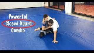 Brazilian Jiu-Jitsu Technique. Closed Guard Triangle Sweep Combo - Firas Zahabi