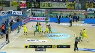 ΑΕΚ - Παναθηναϊκός 67-105 (HL) Basket League Playoffs - Ημιτελικά 4ος αγ. (1-3) {22/5/2017}