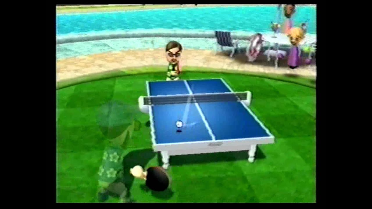 Wii sports resort table tennis vs vincenzo level 2500 11 0 youtube for Table tennis 6 0