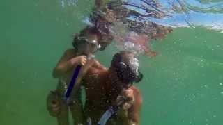 Children Training Underwater