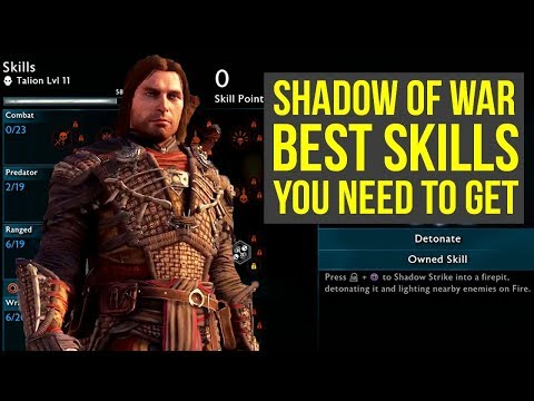 Download video Shadow of War Tips BEST SKILLS TO GET AS SOON AS POSSIBLE! (Middle Earth Shadow of War Tips)