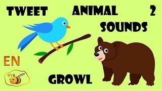 Animals for kids toddlers babies to learn. What animals say – 2. First words flash cards