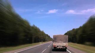 Kola peninsula 2010 - virtual road movie. Part 1/4