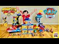 Paw Patrol Mighty Pups adventure Mighty Lookout Tower Jet Command Center and new Mighty Vehicles