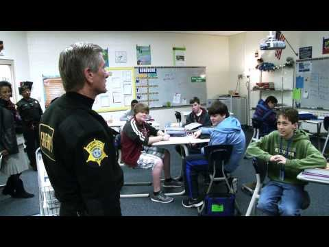 Sheriff Leon Lott visits students at Dent Middle School